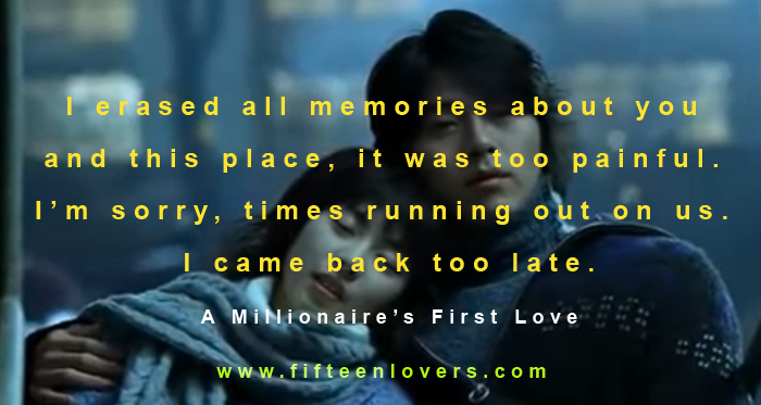 millionaires first love quotes